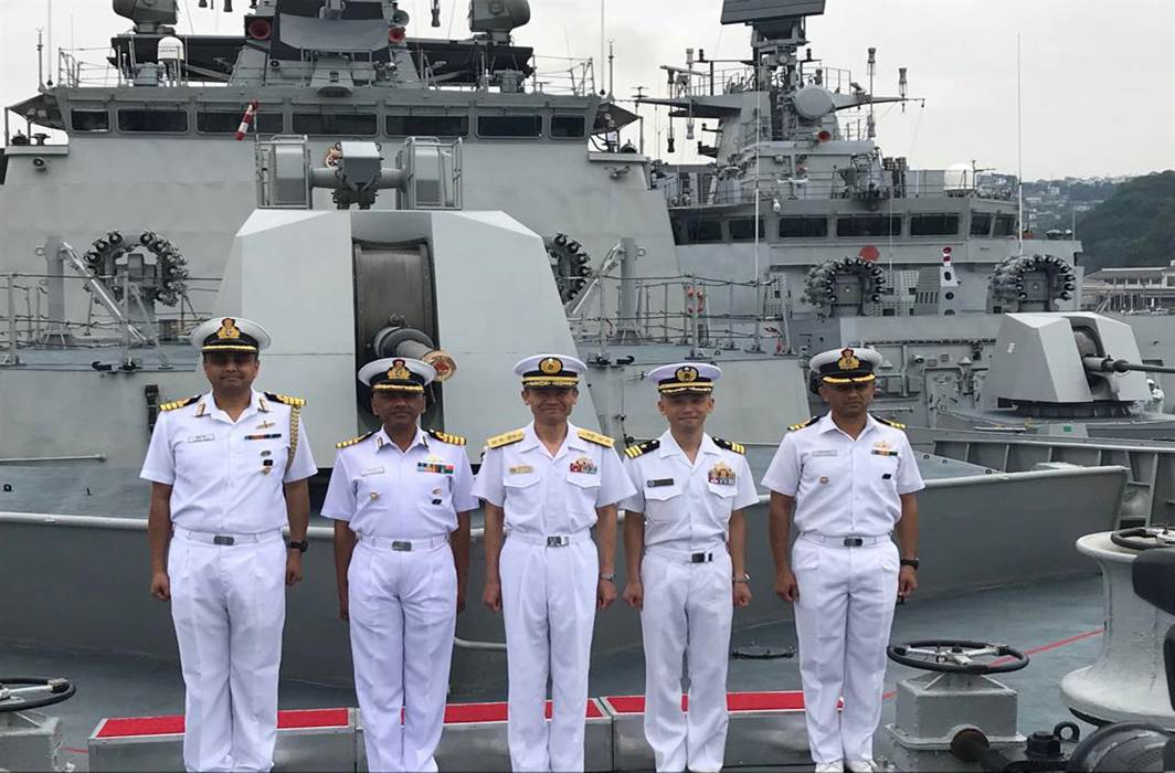 DOCKED: Indian Navy ships Satpura and Kadmatt arrive at Sasebo in Japan on Thursday. They will engage with the JMSDF (Japanese Maritime Self Defence Force) in formal calls and take part in Passage Exercise (PASSEX) with the Murusame Class destroyer, JS Kirisame, UNI