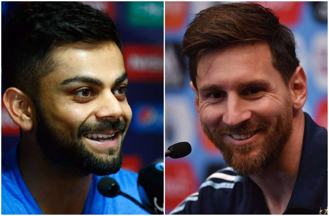 Virat Kohli and Messi
