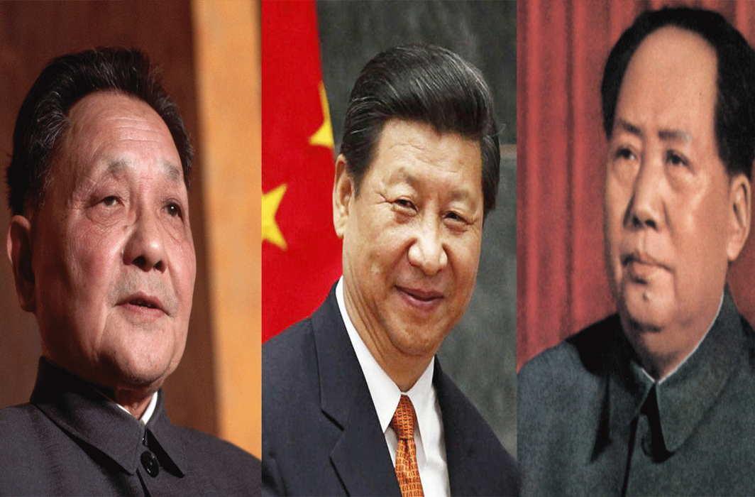 L-R: Deng-xiaoping, Mao, Xi