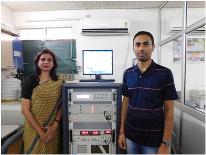 Prof. Davinder Kaur and research student, Kirandeep Singh at their laboratory