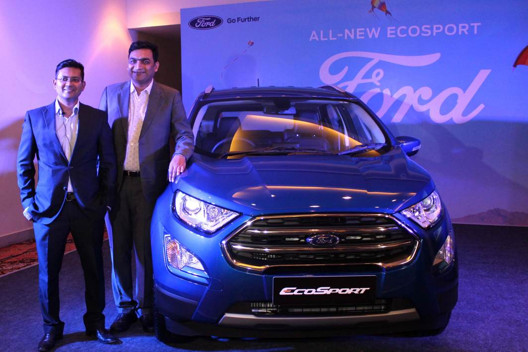 DREAM ON WHEELS: Rahul Gautam, vice-president, Ford India, launches New EcoSport SUV, in Jaipur, UNI