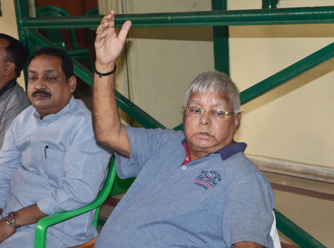 STILL LALU: RJD chief Lalu Prasad addresses a press conference in Patna, UNI