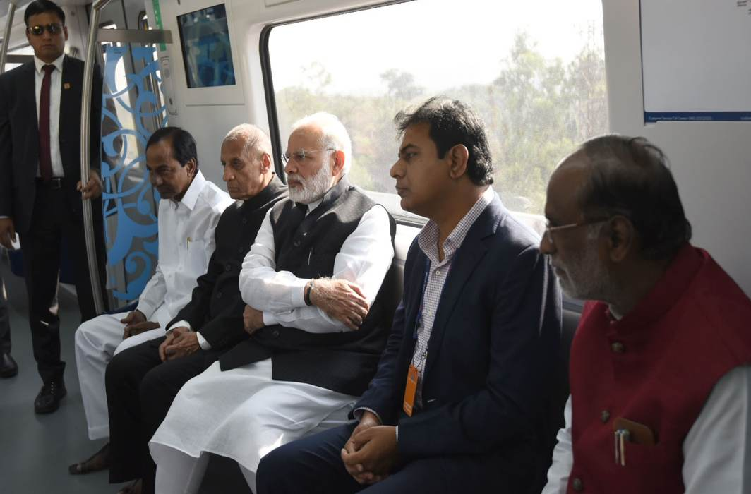PM Modi inaugurates Hyderabad Metro, meets Ivanka Trump before GES launch
