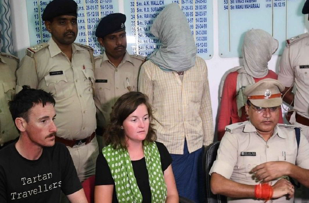 Two arrested in Patna for assaulting British couple camping on banks of river Ganga