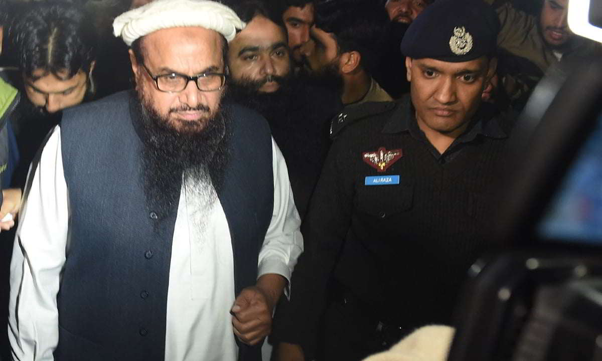 Hafiz Saeed opens poll office of banned JuD in Lahore