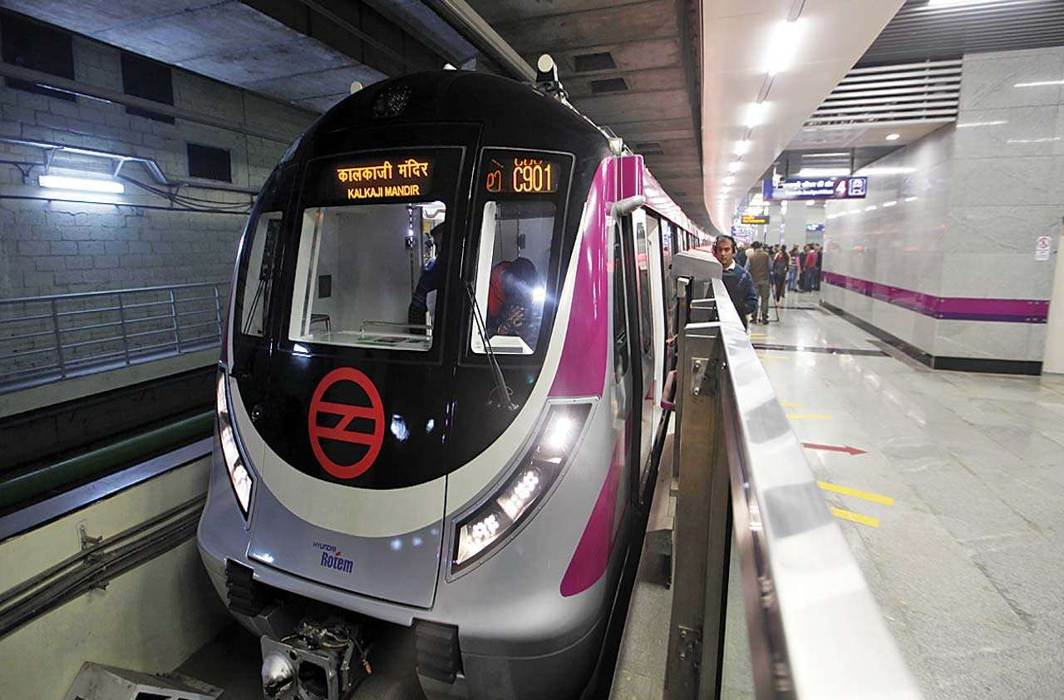 PM Narendra Modi inaugurates Delhi Metro's Magenta line section