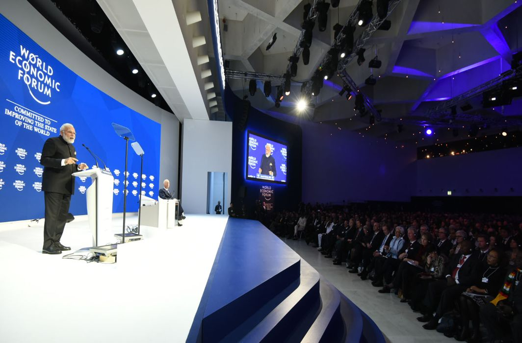Modi At WEF: Climate Change, Terrorism, Protectionism The Greatest Threats Before The World