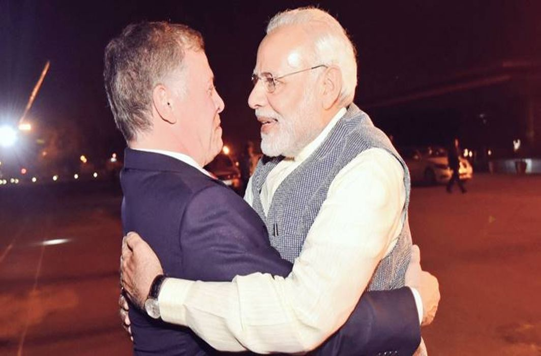 Modi receives Jordan's King Abdullah II at airport