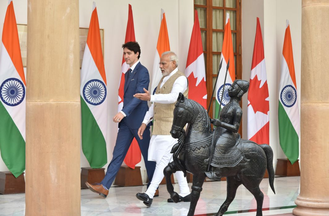 Ceremonial reception to Canadian PM Justin Trudeau on Day 6 of his week-long India tour