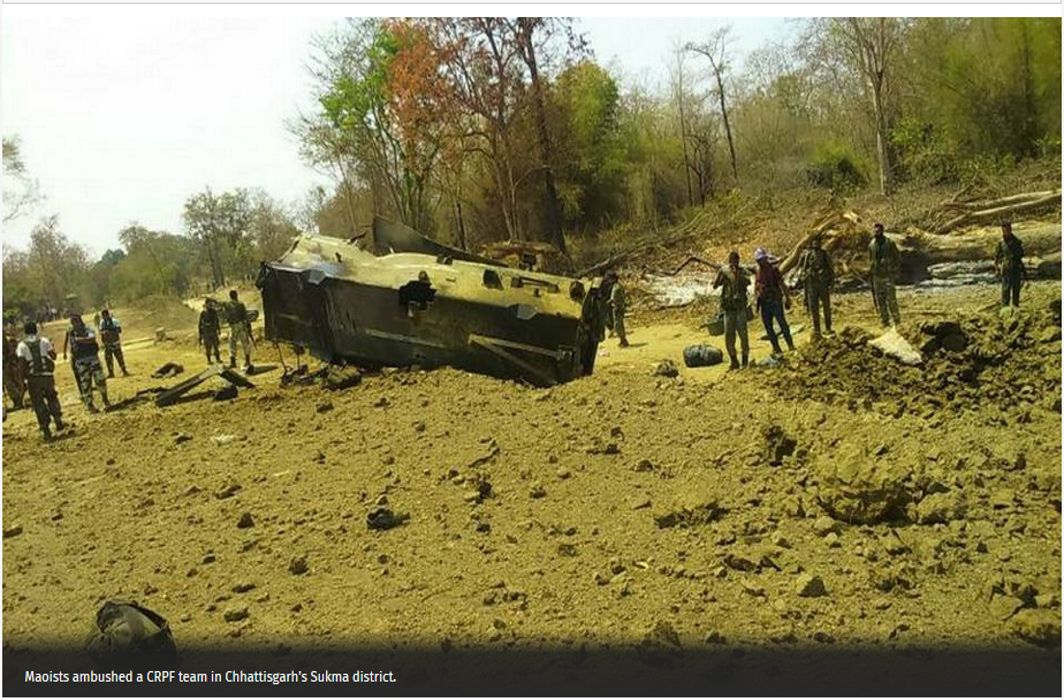 Nine CRPF personnel killed as naxals blow up mine-protected vehicle