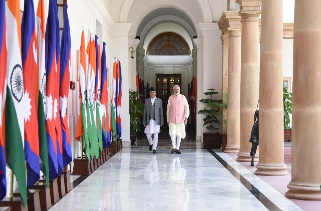 PM Modi meets Nepalese counterpart O.P. Oli
