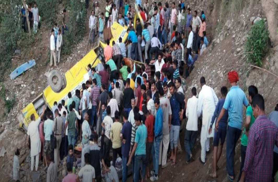 Indian school bus plunges into gorge, killing at least 30