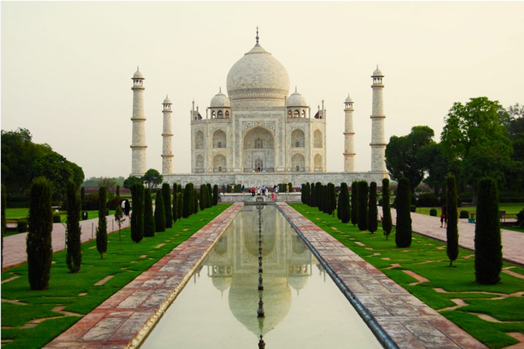 Pillar on Taj Mahal premises collapses in heavy rain