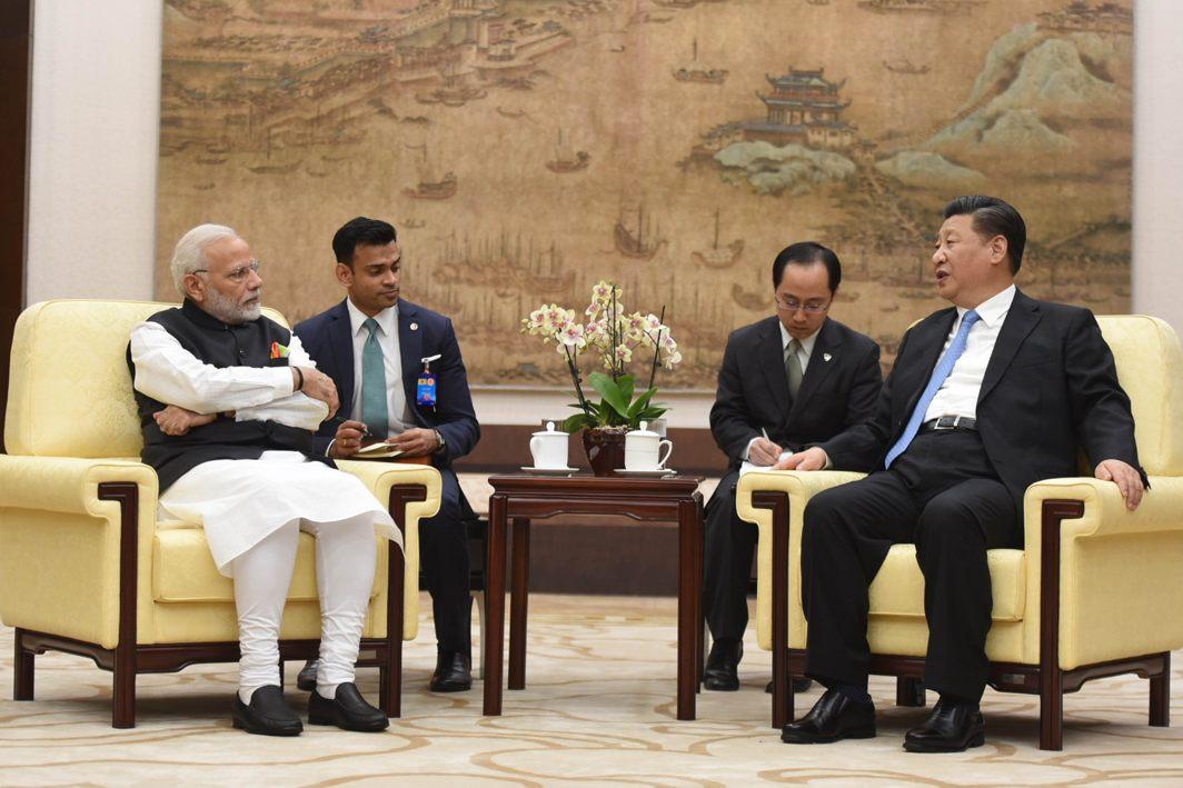 Prime Minister Narendra Modi meets Xi Jinping, President of China in Hubei Provincial Museum, Wuhan, UNI