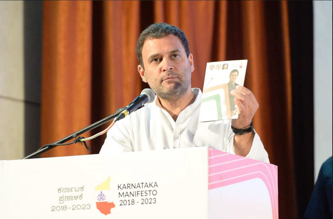 Congress releases 'Nava Karnataka' manifesto promising 1 cr jobs, Rahul calls in 'Mann Ki Baat' of state's people