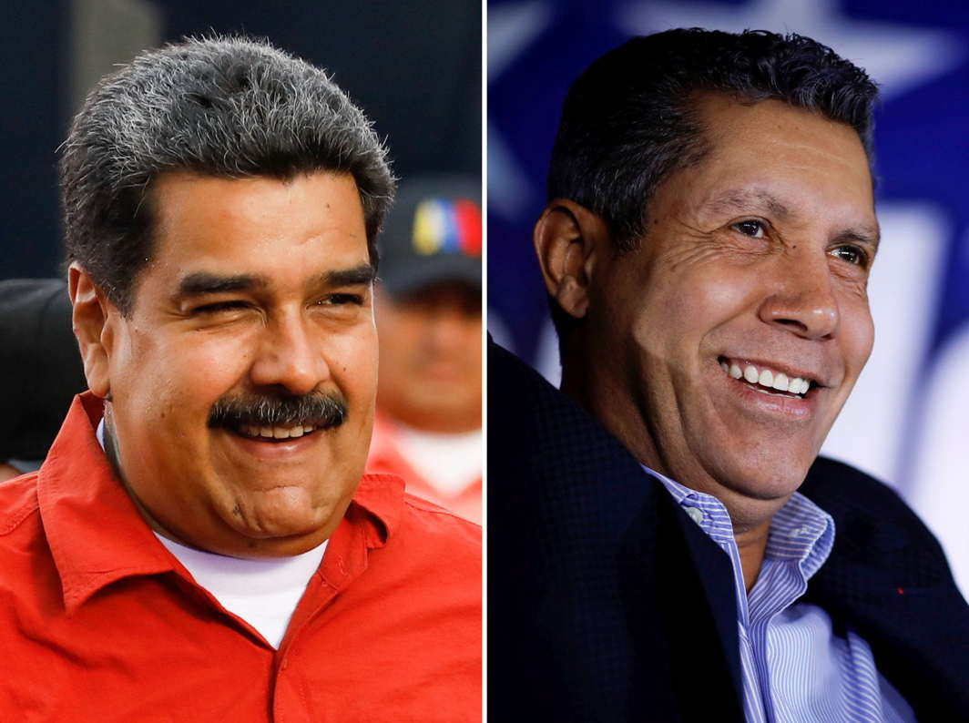 "Candidates for Venezuela's presidential election President Nicolas Maduro and Henri Falcon of the ""Avanzada Progresista"" party, Reuters/UNI"