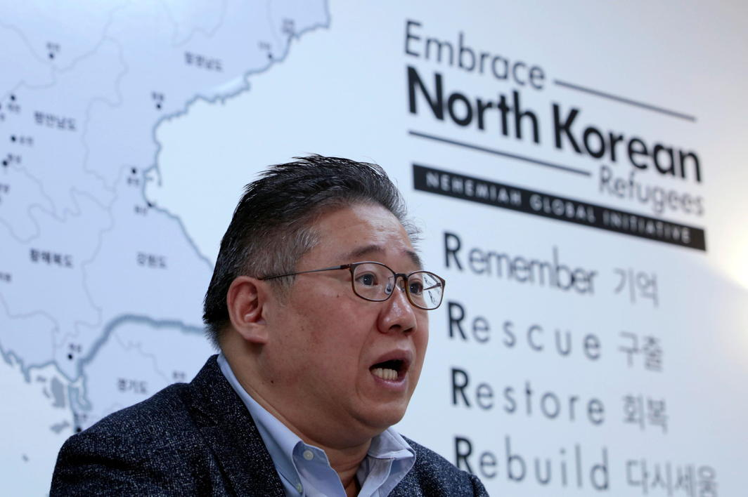 The longest-held American in North Korea, Kenneth Bae, speaks during an interview with Reuters at his office in Seoul, South Korea, Reuters/UNI