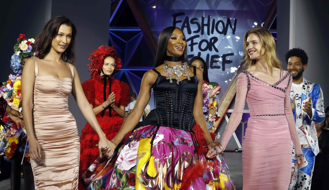 Naomi Campbell, Bella Hadid and Natalia Vodianova attend the fashion show at the 71st Cannes Film Festival, Reuters/UNI