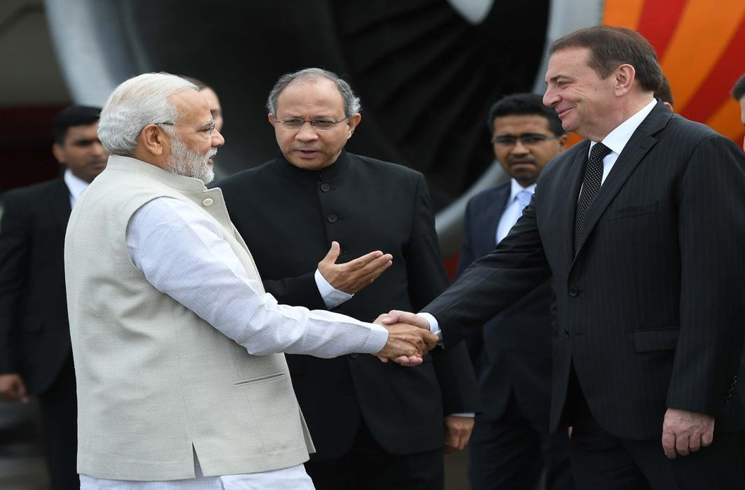 Prime Minister Narendra Modi arrives in Sochi, Russia for an informal summit with the President of Russian Federation Vladimir Putin, UNI