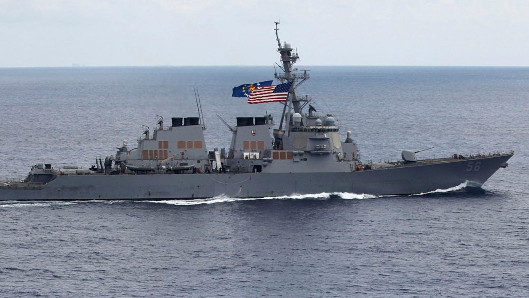 China protest against US Warship sailing in South Sea