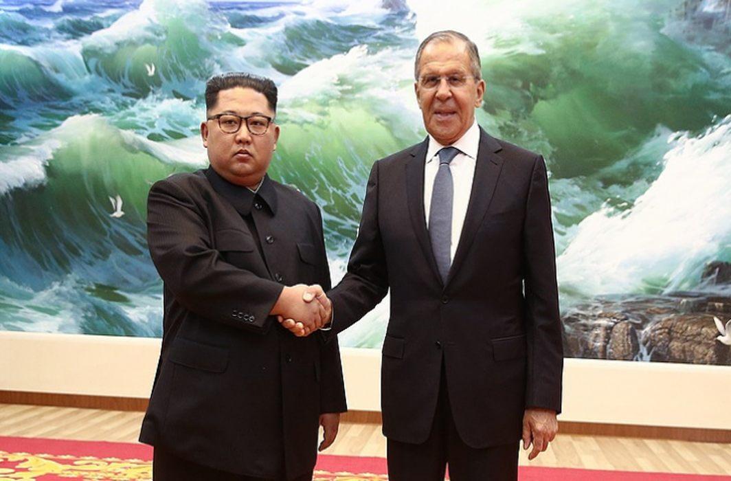 Russian FM Sergei Lavrov meets Kim Jong-un in Pyongyang