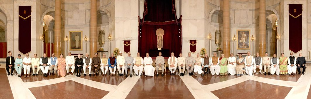 President Ram Nath Kovind, Vice-President M Venkaiah Naidu and Prime Minister Narendra Modi pose for a photograph with the Governors during the Conference of Governors at Rashtrapati Bhavan, in New Delhi, UNI