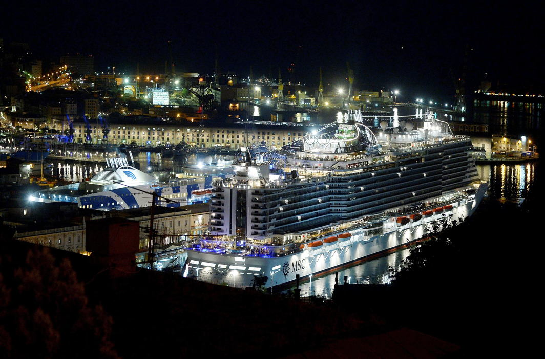 "The new ship of the MSC fleet ""Seaview"" Cruise is seen in the Genoa harbour, Italy, Reuters/UNI"