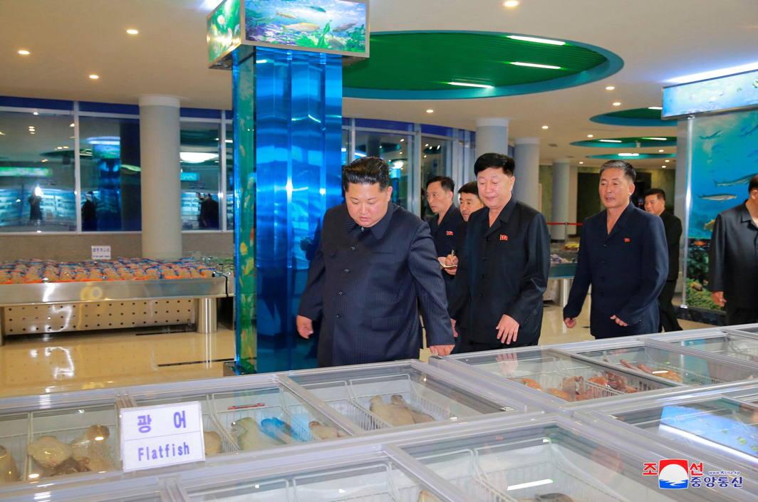 North Korean leader Kim Jong Un visits the newly built Pyongyang Taedonggang Seafood restaurant, Reuters/UNI