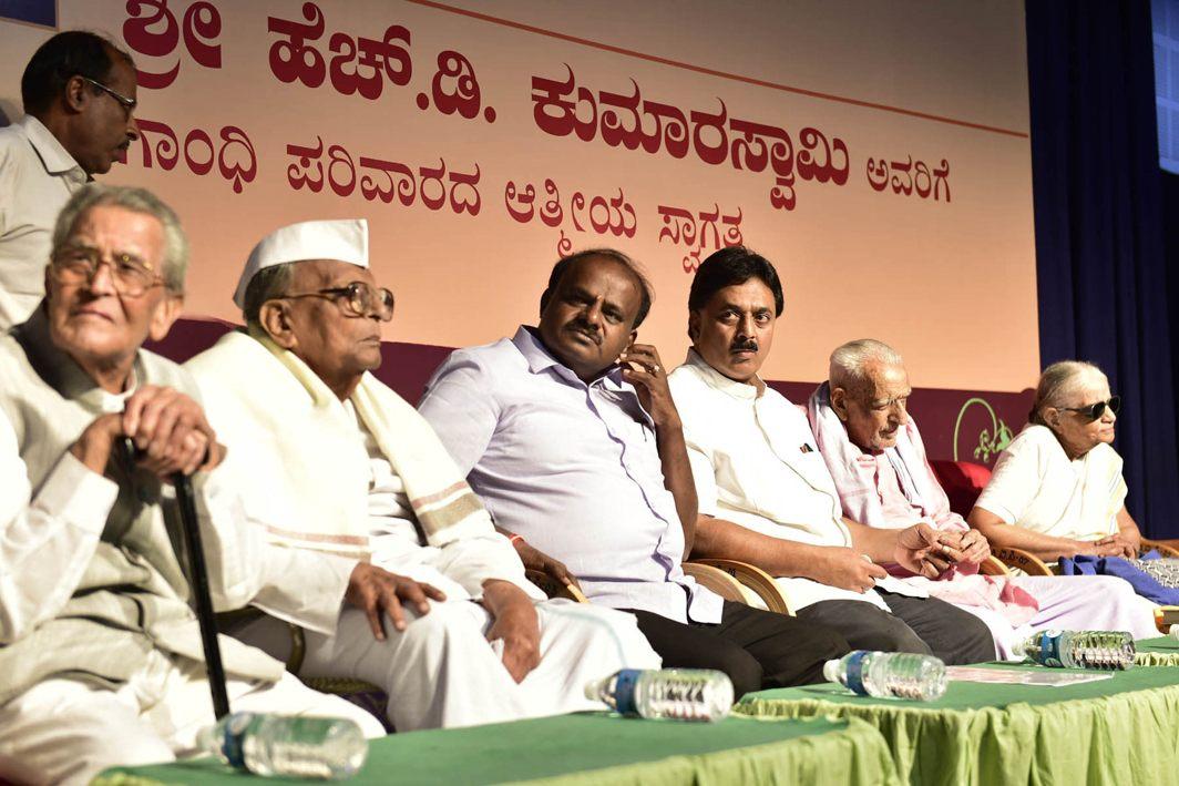 Karnataka Chief Minister HD Kumaraswamy visiting Gandhi Bhavan, in Bengaluru, UNI