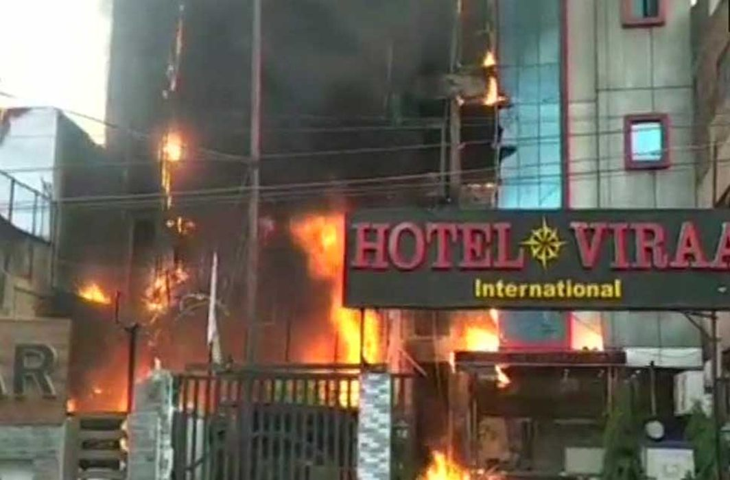 5 killed in massive fire at two Lucknow hotels
