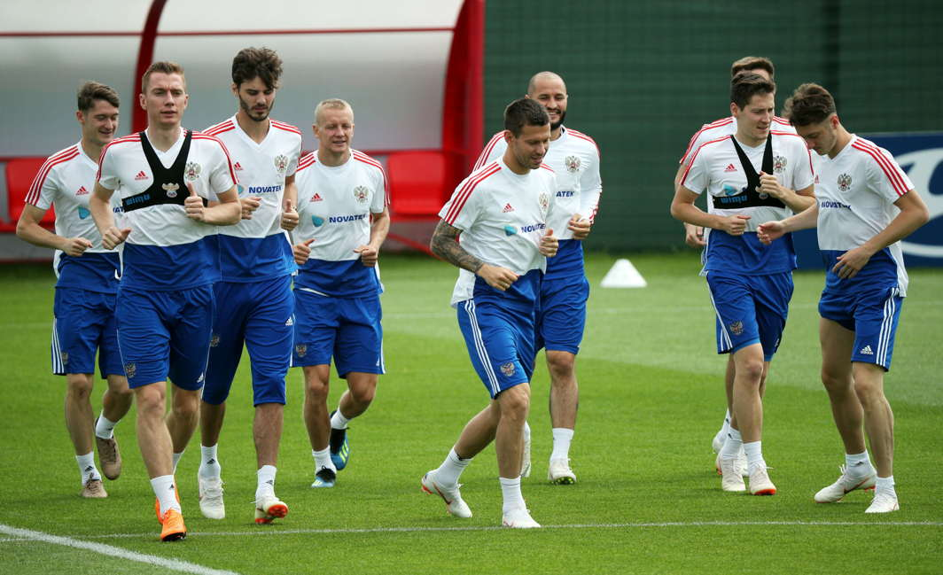 Team Russia trains ahead of their next World Cup match in Moscow, Reuters/UNI
