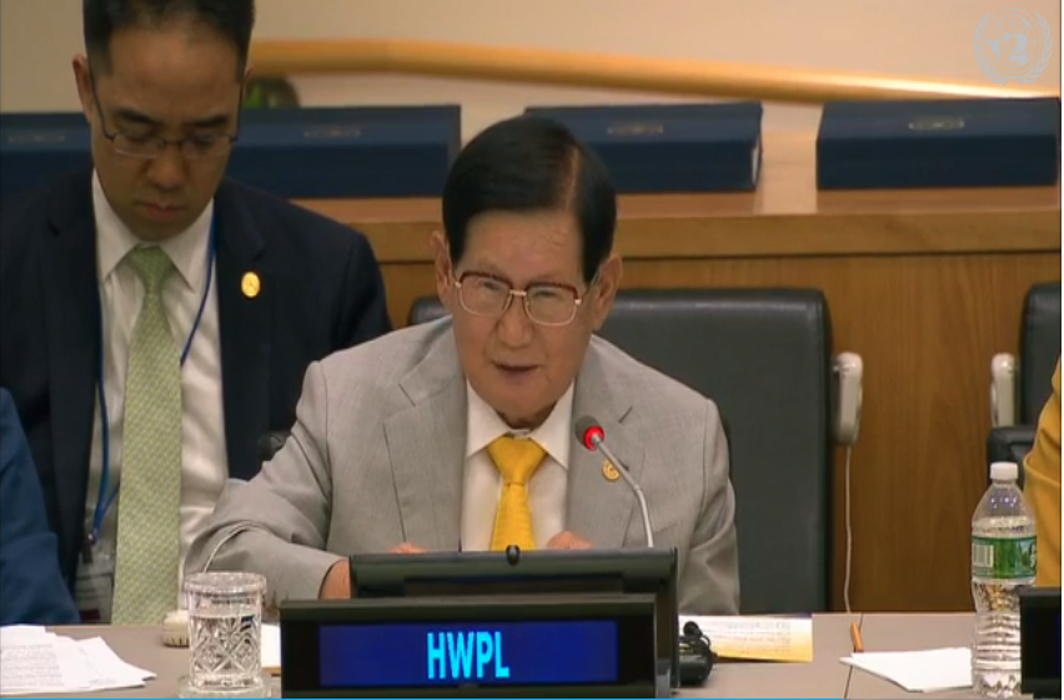 HWPL Leader Urges UN to Ensure Sustainable Peace