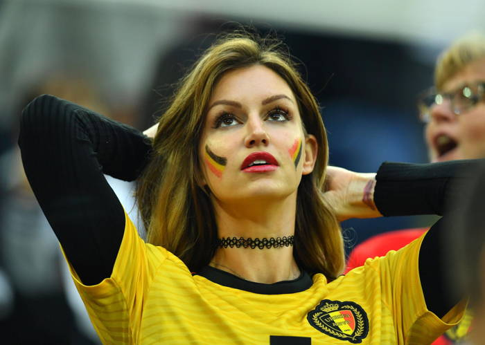 A Belgian fan before the match, Reuters/UNI