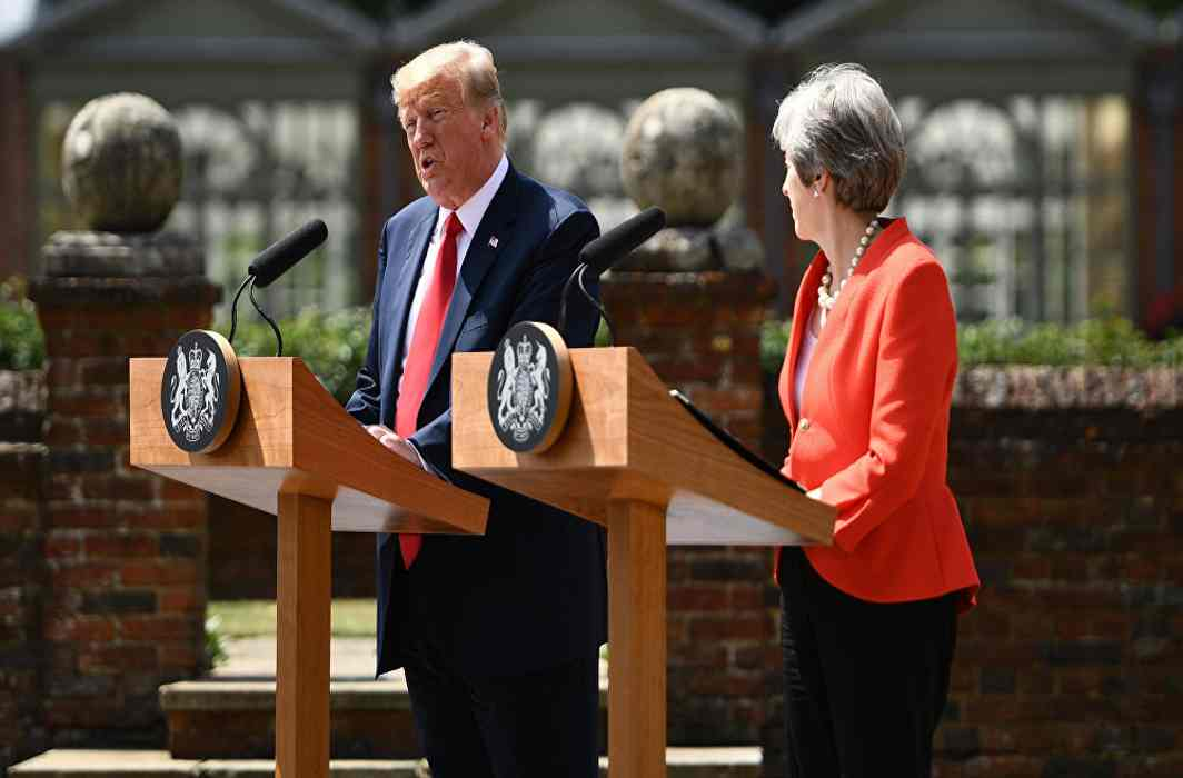 Donald Trump told Theresa May to sue the EU, PM reveals