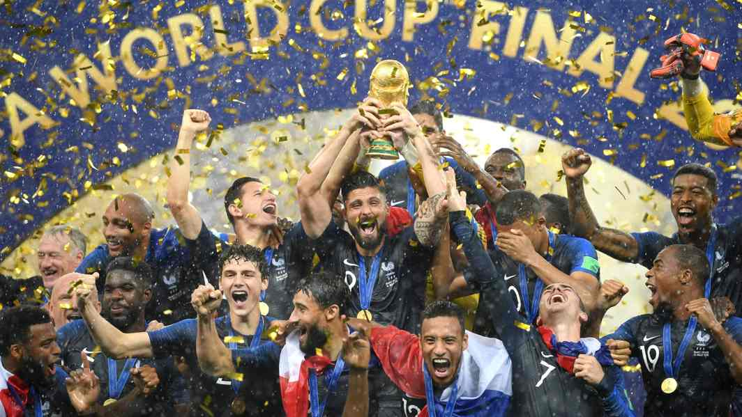 The French team joined Uruguay and Argentina in lifting the Cup twice and became the sixth country after Brazil (5), Germany (4) and Italy (4) to win it multiple times