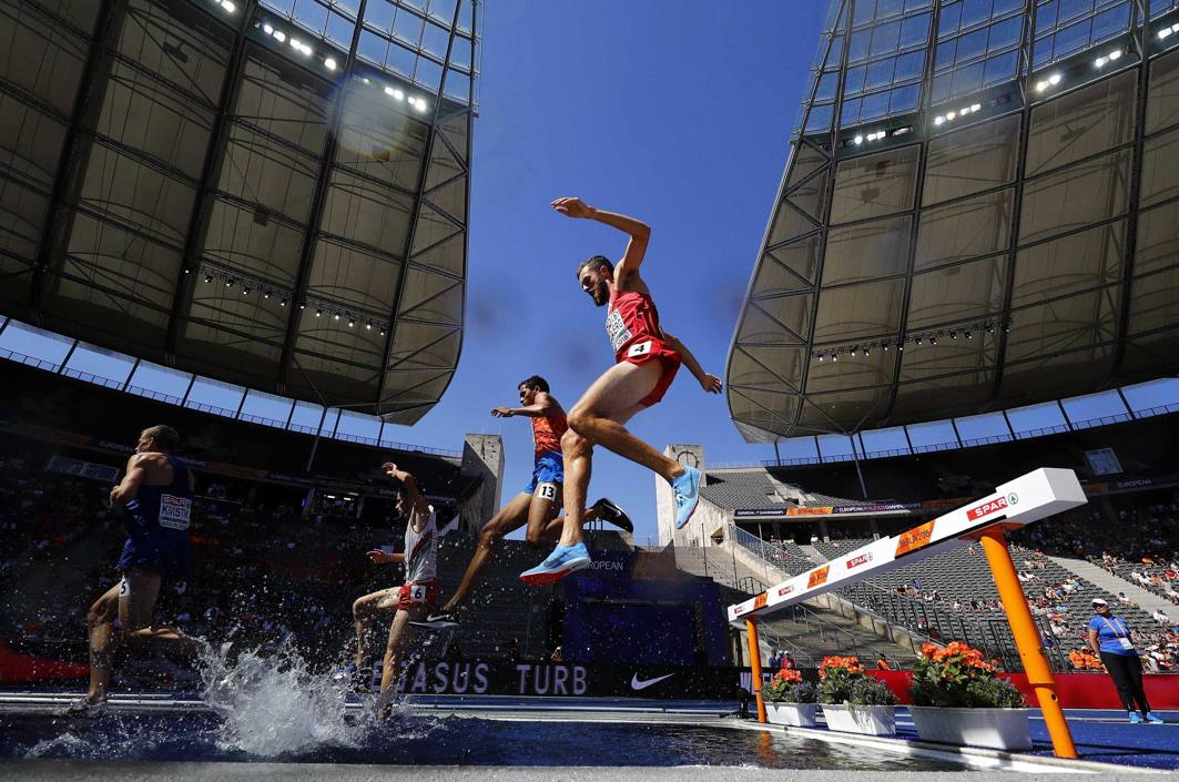 Ole Hesselbjerg of Denmark competes during the men's 3,000m steeplechase qualifications round of the 2018 European Championships at Olympic Stadium, Berlin, Germany, Reuters/UNI