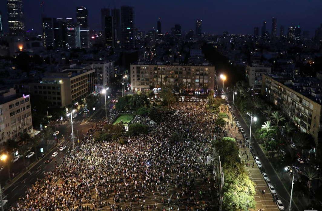 Israeli Arabs and Jews Protest Against Apartheid Law