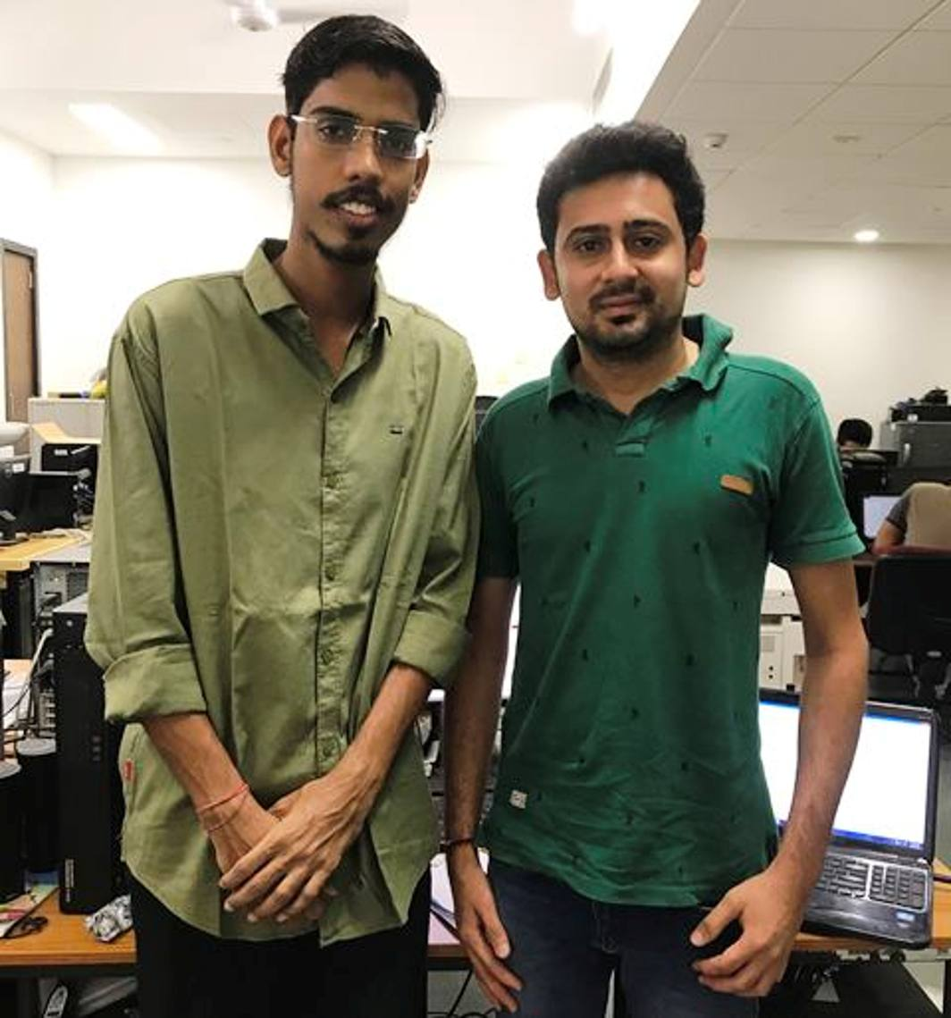 Members of the research team; Saran Aadhar and Harsh Shah!