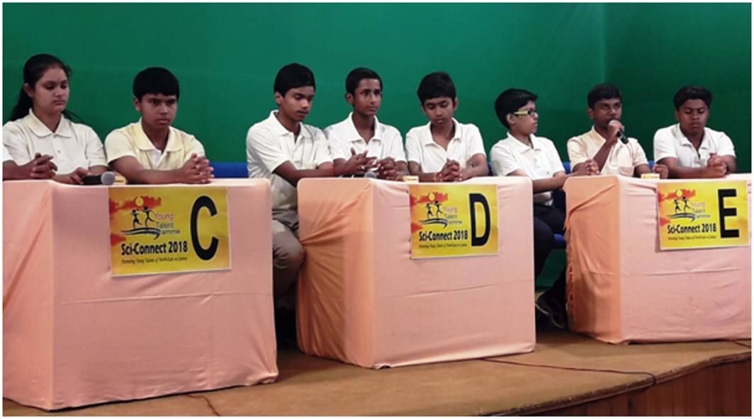 Children participating in quiz during Sci-Connect in Gangtok this week