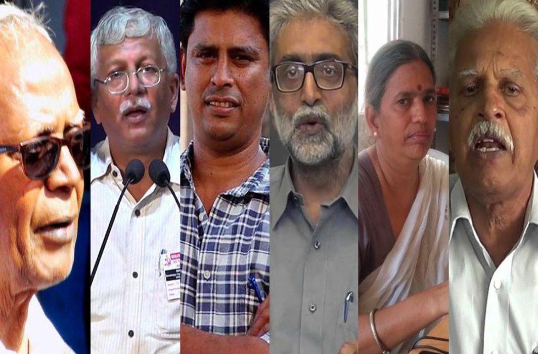 Stan Swamy, Vernon Gonsalves, Arun Ferreira, Gautam Navlakha, Sudha Bharadwaj, Varavara Rao