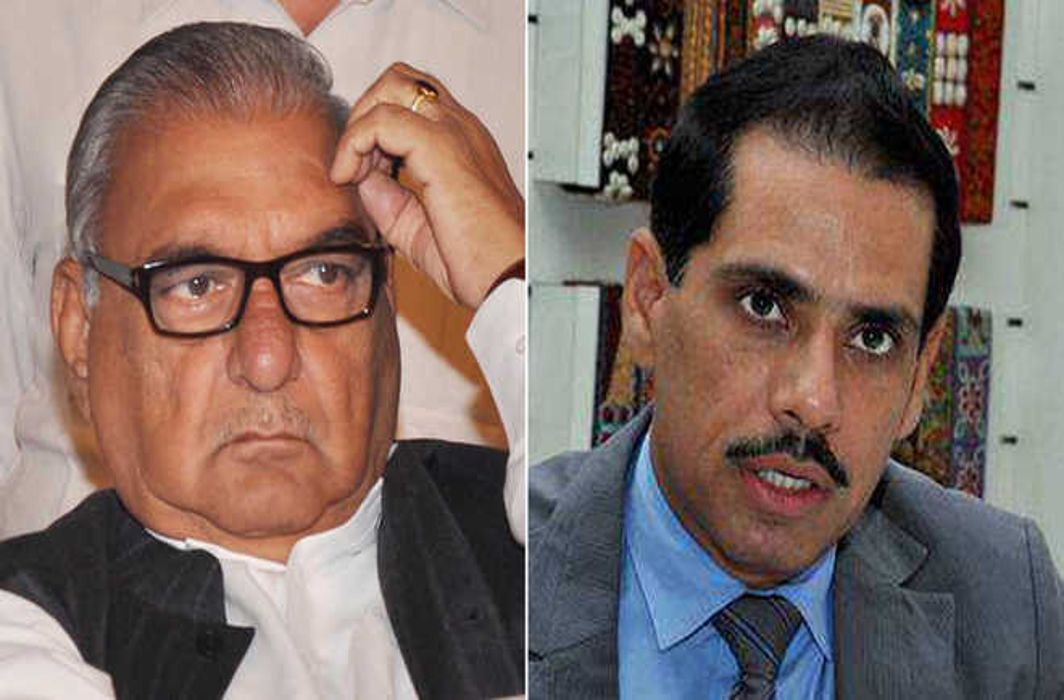 Hooda and Vadra booked in Gugugram land scam case