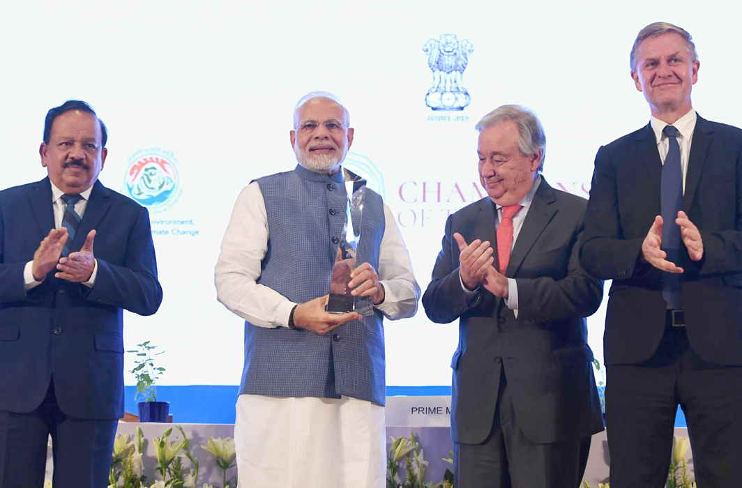 PM Narendra Modi, French President Emmanuel Macron get Champions of the Earth award