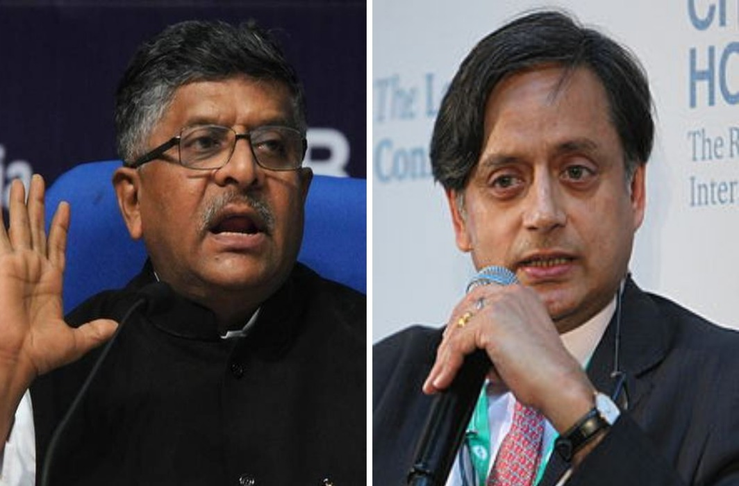 Tharoor send legal notice to Law Minister RS Prasad for calling him murder accused