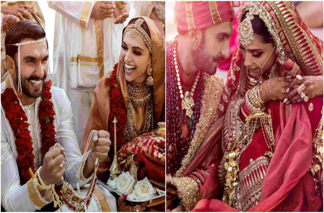 Ranveer Singh and Deepika Padukone's wedding pics , going viral on social media