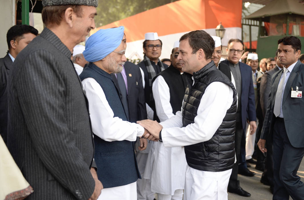 Congress celebrates its 134th Foundation Day with Rahul Gandhi and Manmohan Singh