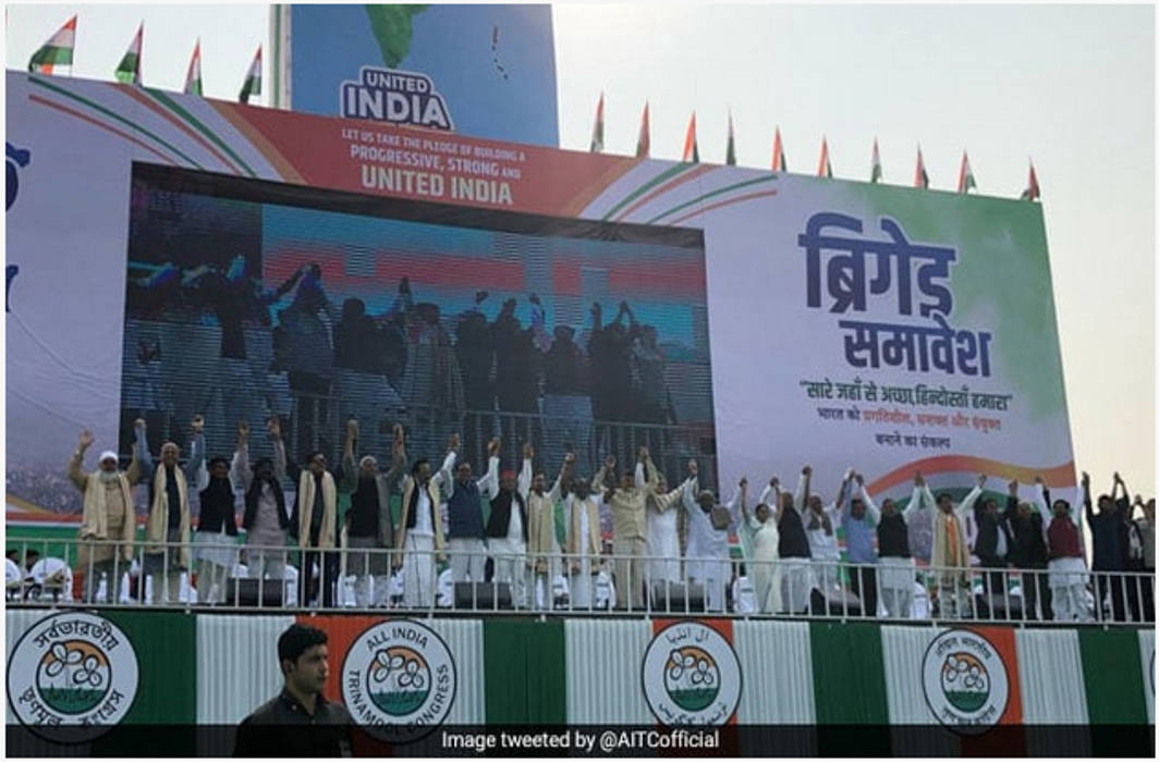 Opposition unites at mega rally to slam Modi govt for destroying institutions, social fabric
