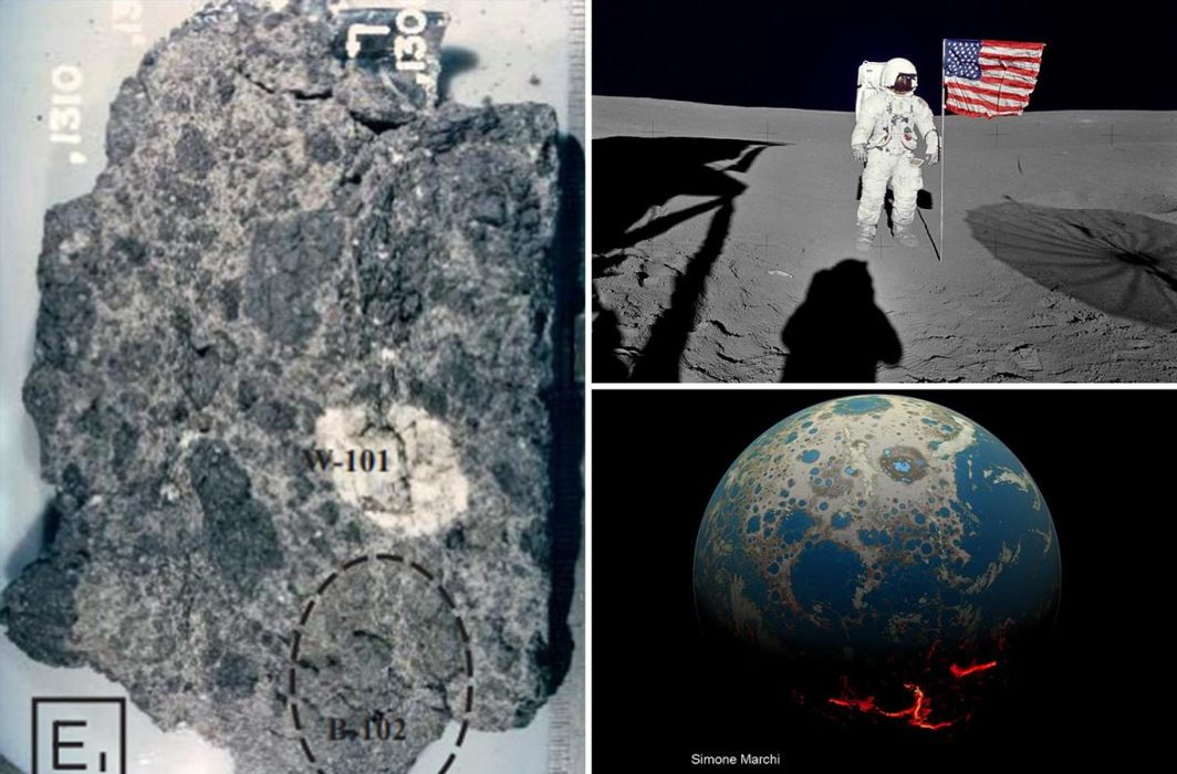 Earth's oldest rock on Moon