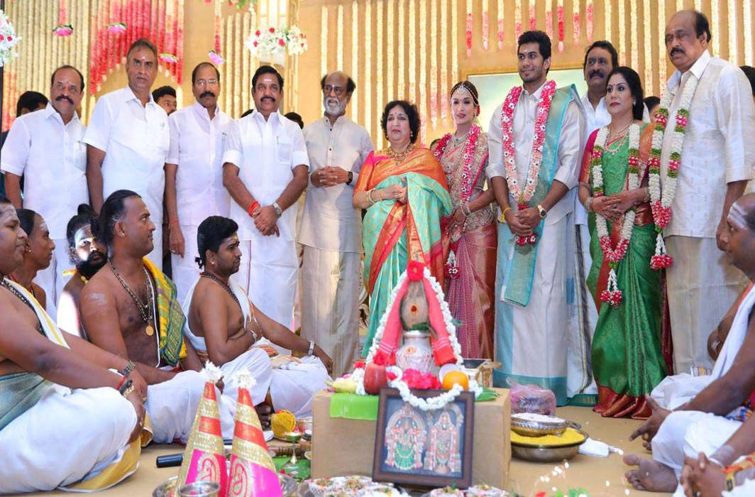 Have a glance at Soundarya Rajinikanth-Vishagan Vanangamudi's wedding pics
