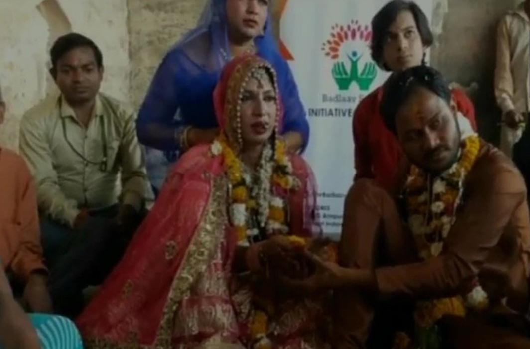 A Muslim man marries a transwoman in Madhya Pradesh on Valentine's Day