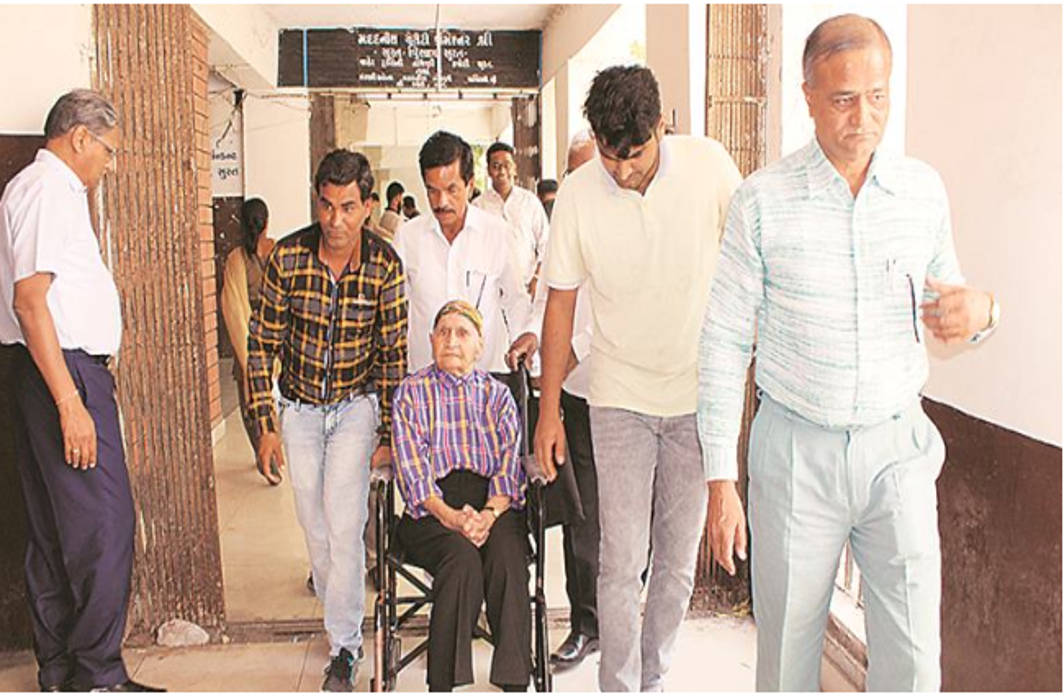 Mahatama Gandhi's wheelchair-bound relative summoned by Surat official to second-floor office